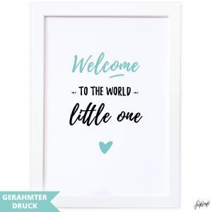 Poster A4 | Kunstdruck mit Rahmen (21x30 cm) | Welcome to the world little one