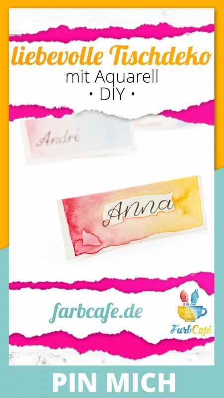 DIY Namensschilder mit Aquarell